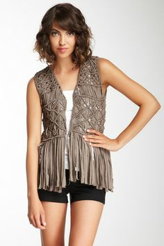 Subtle Luxury Macrame Vest by Subtle Luxury on @HauteLook