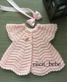 Best 12 I would like to see the pattern step by step – SkillOfKing. Crochet Baby Jacket, Crochet Baby Dress Pattern, Baby Dress Patterns, Crochet Patterns, Crochet Toddler, Easter Crochet, Baby Girl Sweaters, Baby Cardigan, Free Baby Stuff