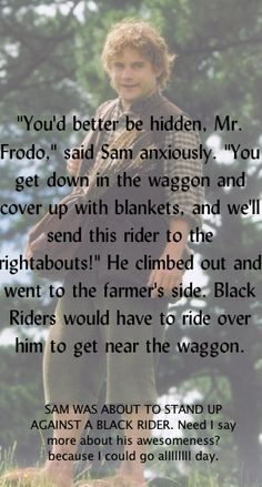 #Samwise #Gamgee I absolutely love Sam! He is such an amazing friend to Frodo, even when Frodo does him wrong.