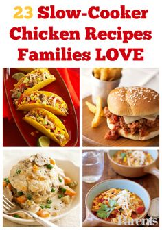 Chicken + the slow-cooker = a match made in culinary heaven! Check out our best easy dinner recipes that combine the two. Best Easy Dinner Recipes, Quick Easy Meals, Great Recipes, Slow Cooker Recipes, Crockpot Recipes, Cooking Recipes, Easy Chicken Pot Pie, Chicken Recipes, Healthy Cooking