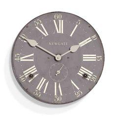 Kensington Wall Clock from Newgate clocks. Bathroom Wall Clocks, Wall Clocks Uk, Grey Clocks, Kitchen Wall Clocks, Mantel Clocks, Rustic Home Design, Wall Clock Design, Red Candy, Second Hand