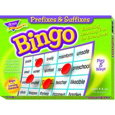 PREFIXES & SUFFIXES BINGO GAME