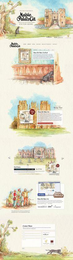 Unique Web Design, Maisie The Palace Cat #WebDesign #Design (http://www.pinterest.com/aldenchong/)