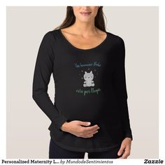 Personalized Maternity Long Sleeve T-Shirt