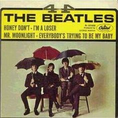 """the Beatles"""" was the third of three released in US, but second of two Beatles' EPs released by Capitol Records Beatles Album Covers, Beatles Albums, The Beatles, Beatles Art, Beatles Singles, Im A Loser, Song Words, Capitol Records, 45 Records"""