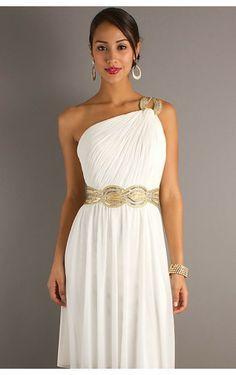 one shoulder greek style dress - Google Search