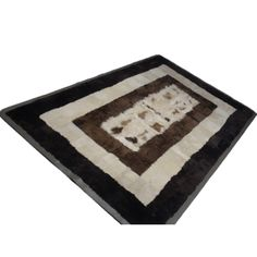 Furry rug from top quality sheepskin fur and sheep leather frame.     The ideal gift for you and your family.