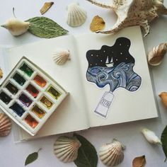 Ocean Идеи, картинки для срисовки, артбука, скетчбука, лд.