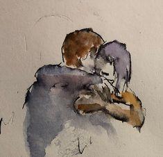 Watercolor kisses 3 | blog/watercolor paintings/larryzink