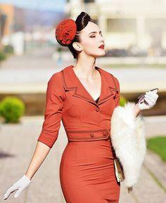 Dope Fashion, Retro Fashion, Girl Fashion, Vintage Fashion, Fashion Outfits, 1940s Dresses, Vintage Dresses, Nice Dresses, Vintage Outfits