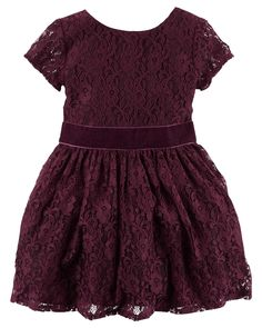 Kid Girl Lace Dress from Carters.com. Shop clothing & accessories from a trusted name in kids, toddlers, and baby clothes.
