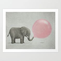 Jumbo Bubble Gum Art Print by Terry Fan | Society6