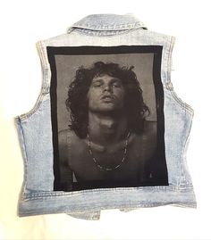 Super cool light denim vest featuring Jim Morrison of the Doors on the back.Front has added cool swallow fabric on shoulder area and Doors patch SIZE: Jim Morrison, Light Denim, Vest, Boutique, Clothing, Outfits, Outfit Posts, Kleding, Boutiques