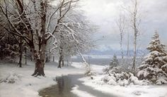 Anders Andersen-Lundby | A Wooded Winter Landscape | Buy Prints Online