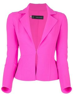 Puff Sleeves Solid Color Lapel Collar Polyester Single Button ...