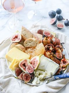 Roasted Goat Cheese Stuffed Fig Cheese Plate