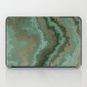 i pad case green texture abstract by Christine Baessler