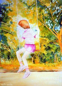 Little Girl On The Park Swing