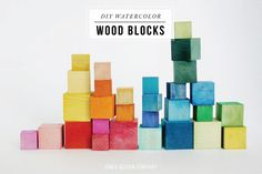 DIY watercolor wood blocks / jones design company