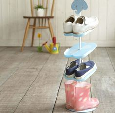 Help kids organize their shoes.  kids' room organization solutions with a Japanese flair - Cool Mom Picks