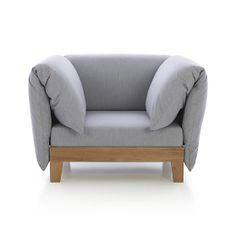 Party Outdoor Lounge Chair with Arm Cushions | Crate and Barrel