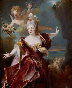 Portrait de la comédienne Marie-Anne de Châteauneuf, dite Mlle Duclos (1664-1747), dans le rôle d'Ariane, by Nicolas de Largillierre Musee Conde