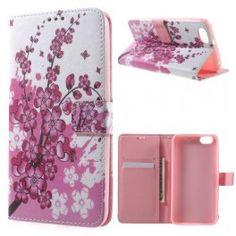 Huawei Honor 4X vaaleanpunaiset kukat puhelinlompakko.