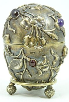 RUSSIAN SILVER JEWELED INSECTS EGG