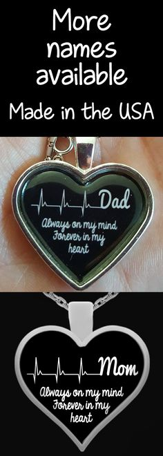 Beautiful handmade silver plated necklaces to remember your loved ones. Pendants are 1 inch in diameter. We have many names available so explore our store and find the one for you. These also make wonderful gifts that anyone will love.