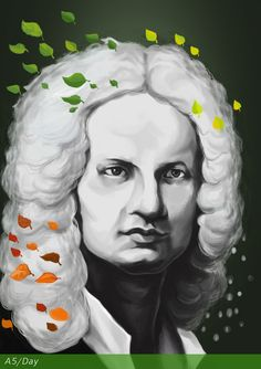 Antonio Vivaldi March 1678 Venice, Republic of Venice Happy Birthday Antonio ! Republic Of Venice, March 2013, Violin, A5, Happy Birthday, Portrait, Creative, Illustration, Artwork