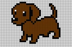 Minecraft Pixel Art Ideas Templates Creations Easy / Anime / Pokemon / Game / Gird Maker Dog Pixel A Easy Pixel Art, Pixel Art Grid, Minecraft Pixel Art, Minecraft Houses, Minecraft Creations, Creeper Minecraft, Pixel Pattern, Pattern Art, Perler Bead Art