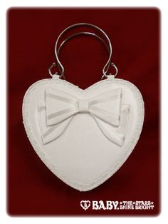 Ribbon Heart Bag in white - Baby, the Stars Shine Bright