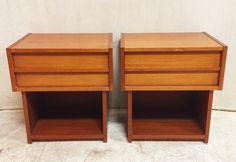 Beautiful Vintage Danish Teak Side Table with Drawer $185