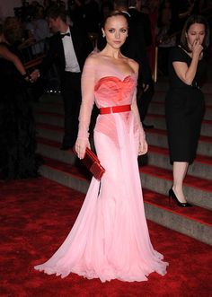 Christina Ricci: Christina Ricci was pretty in pink Givenchy on the red carpet in 2008.