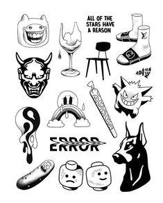 likes, 26 comments – Tattoo Sketches ( on Instagr … – li… Flash Art Tattoos, Tattoo Flash Sheet, Body Art Tattoos, Ankle Tattoos, Ship Tattoos, Holz Tattoo, Kritzelei Tattoo, Doodle Tattoo, Tiny Tattoo