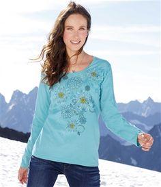 Tee-Shirt Fleurs d'Hiver #livraison #commande #hiver #winter #atlasforwomen #atlasformen