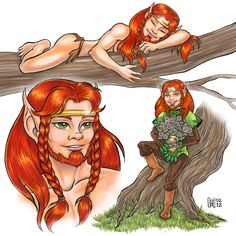 Redlance -  One of the charature's from elfquest. he is a peacful tree shaper.