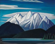 """""""Mountain Sketch LXIII,"""" Lawren Stewart Harris, ca. oil on board, 12 x private collection Lauren Harris, Group Of Seven Paintings, Franklin Carmichael, Mountain Sketch, Tom Thomson, Canadian Artists, Landscape Art, Cool Art, Sketches"""