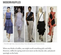 Modern Ruffles | THE 10 BIGGEST TRENDS FROM NEW YORK FASHION WEEK SPRING 2016
