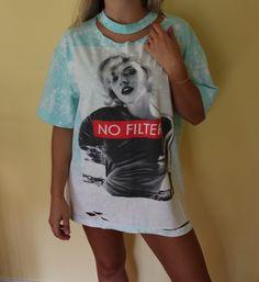 67542cf69 Distressed Marilyn Monroe Shirt. Distressed tee. Distressed. Distressed  shirt. Shirt Dress.