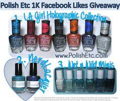 Polish Etc.: 1,000 Facebook Likes Giveaway!
