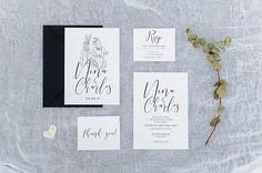 Minimalist Wedding Ideas for the Alternative Bride & Groom Wedding Invitation Paper, Invitation Suite, Alternative Bride, Minimalist Wedding, Bride Groom, Names, Creative, Illustration, Events