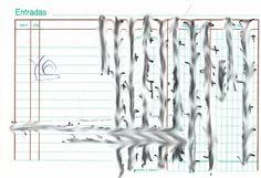"""Apunte: Garramantxo 130   Apunte  """"Garramantxo 130""""  Garabato 130  Bolígrafo sobre papel  105 x 153 cm  2004  Bilbao  apunte: garabato libro 2004-01 / 2004-06"""