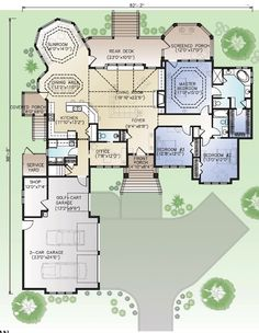 First Floor Plan of House Plan 45667