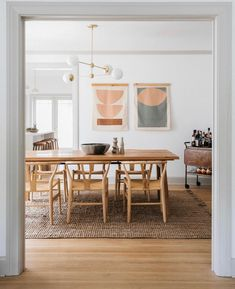Madera Oak Dining Table For 6 Wooden Dining Tables, Round Dining Table, Dining Room Table, White Oak Dining Table, Wooden Dining Table Designs, Dining Rooms, Oak Table, Table Lamp, Style Deco