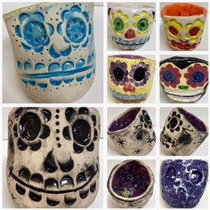 clay pinch pots, Sugar Skulls, high school art, Laura Harrison, Art Education, Art Education Blog, karen ray,