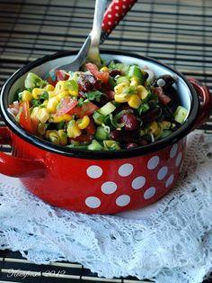 Bunter Maissalat mit Kidneybohnen