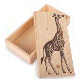 Found it at Wayfair - Giraffe Pine Box