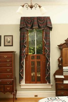 The window in this traditional Victorian bedroom shows Americana Brownstone shutters. Brownstone shutters are comprised of Raised Panel flanks and Louvered inner panels. These shutters are manufactured from Pennsylvania Cherry, the most beautiful wood in the world. The panels and the louvers are constructed, in typical Victorian style, with a special small section at the center of the window. Americana can replicate these 19th century designs for your Victorian home. Victorian Bedroom, Victorian Homes, Raised Panel Shutters, Brooklyn Style, Brick Facade, Window Boxes, Victorian Fashion, Pennsylvania, 19th Century