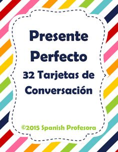 Conversation cards to practice Present Perfect in Spanish! Comes with lots of ideas on how to use them.